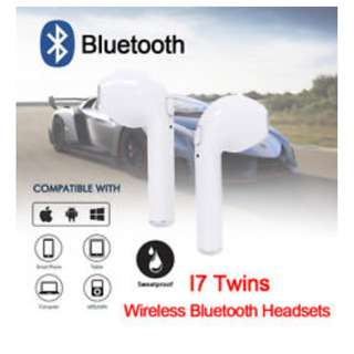 🚚 (on sale)I7, Dual-mode V4.2+EDR, Twin TWS Mini Bluetooth Earbuds for Smartphone, iPhone Earpods