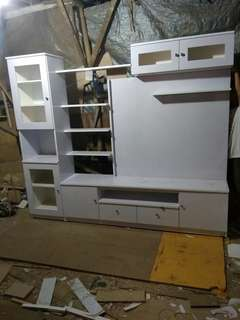 Rak tv,bahan blocktick lapisan hpl
