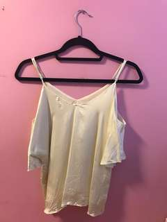 Aritzia Draveil Blouse in Milk Size Small