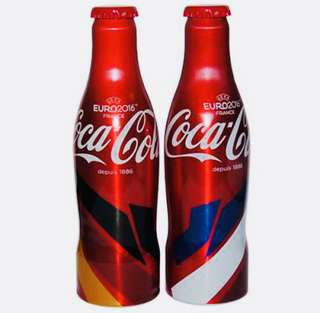 Limited Edition Euro Special Coca-Cola Aluminium Coke Bottle