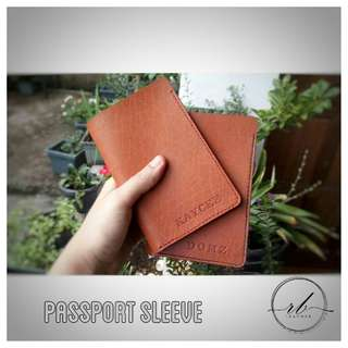 Genuine Leather Passport Sleeve