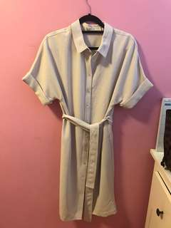 Aritzia Glen Dress in Bone Size Small