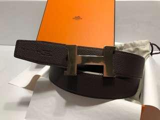 Hermes 男裝皮帶 Belt 38mm 新款淡金扣 父親節禮物