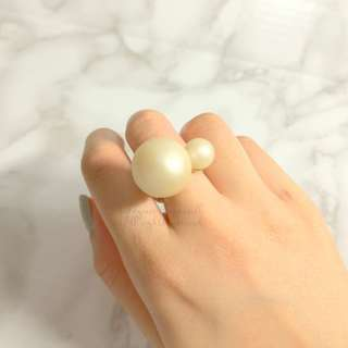 MADE IN KOREA Double Bauble Pearl Ring