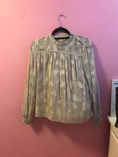 Aritzia Henriette Blouse in Ashen Size Small