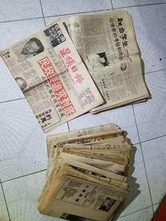 1984-85年星加坡報紙,估計有十份至十五份 全部$100元,懷舊報紙