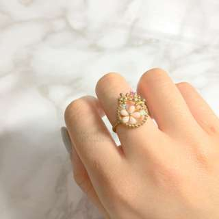 MADE IN KOREA Pretty Flower Pink Ring