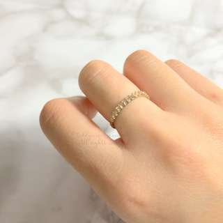 MADE IN KOREA Pretty Simple Crystal Ring