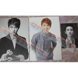 [CRAZY DEAL 80% OFF FROM ORIGINAL PRICE][READY STOCK]SMTOWN WEEK CONCERT CARD 3PC - EXO DO D.O OFFICIAL ORIGINAL FROM KOREA (PRICE NOT INCLUDE POSTAGE)PLEASE READ DETAILS FOR MORE INFO; POSLAJU:PENINSULAR AREA :RM10/SABAH SARAWAK AREA: RM15
