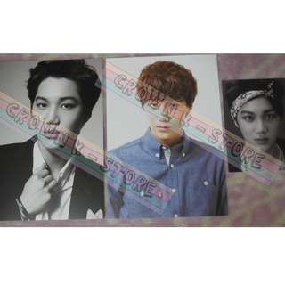 [CRAZY DEAL 80% OFF FROM ORIGINAL PRICE][READY STOCK]SMTOWN WEEK CONCERT CARD 3PC - EXO KAI OFFICIAL ORIGINAL FROM KOREA (PRICE NOT INCLUDE POSTAGE)PLEASE READ DETAILS FOR MORE INFO; POSLAJU:PENINSULAR AREA :RM10/SABAH SARAWAK AREA: RM15
