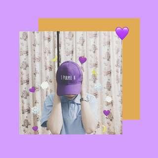 BTS I Purple U Baseball Cap
