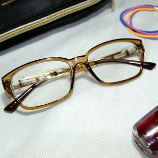 Pacific blue - brown rectangular non-prescription eyeglasses