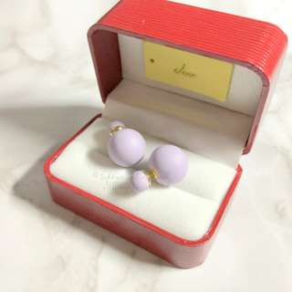 MADE IN KOREA Pretty Dior Triables Style Earring Lavender 薰衣草紫色波波耳環