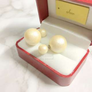MADE IN KOREA Pretty Dior Triables Style Earring Pearl 波波耳環