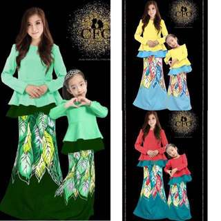 SET SEDONDON MOM,DAD & KIDS ~READY STOK~ #raya