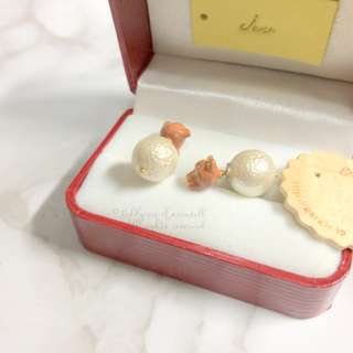 MADE IN JAPAN Gargle Pretty Dior Triables Style Earring Teddy Pearl Cute 波波耳環
