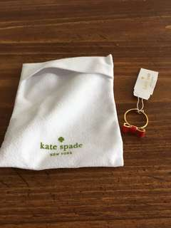 Kate Spade Red Bow Ring Size 7 brand new with tags