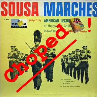 sousa marches Vinyl LP used, 12-inch, may or may not have fine scratches, but playable. NO REFUND. Collect Bedok or The ADELPHI.