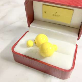 MADE IN KOREA Pretty Dior Triables Style Earring Yellow 波波耳環