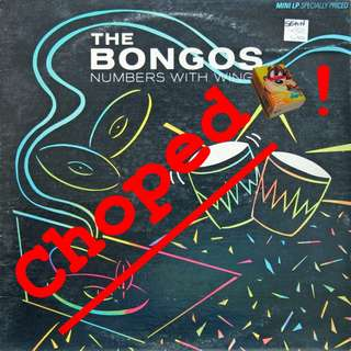 the bongos Vinyl LP used, 12-inch, may or may not have fine scratches, but playable. NO REFUND. Collect Bedok or The ADELPHI.