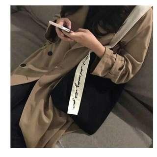 FUN 日雜~原宿風 刺繡帆布袋 斜背包 帆布包
