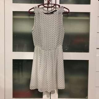 Polkadot White Dress