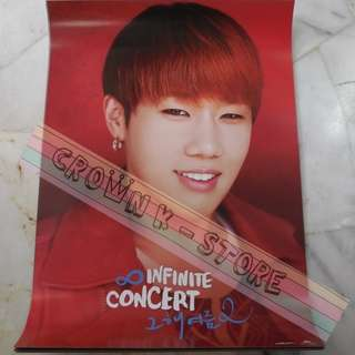 [CRAZY DEAL 90% OFF FR ORIGINAL PRICE][READY STOCK]INFINITE SUNGKYU KOREA OFFICIAL POSTER 1PC (SHIP USING TUBE)ORIGINAL FROM KOREA (PRICE NOT INCLUDE POSTAGE)PLEASE READ DETAILS FOR MORE INFO; POSLAJU:PENINSULAR AREA :RM10/SABAH SARAWAK AREA: RM15