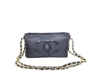 Chanel Sequin Chain Gold Bag