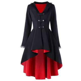 Gothic trench coat winter