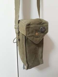 Military Surplus Vintage Belgian Gas Mask Bag