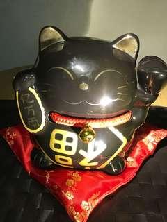 陶瓷黑招财猫