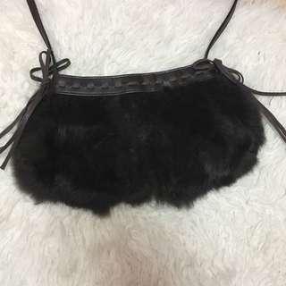 Fluffy sling bag