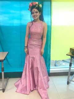 Pink Mermaid Gown for Rent