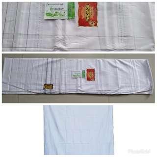 Sarung wadimor (putih polos)