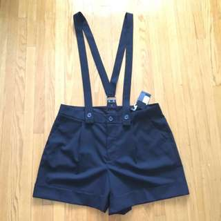 Club Monaco suspender shorts (size 12)
