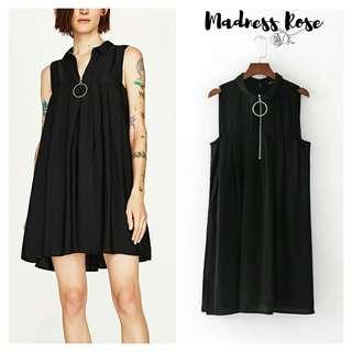 Black Zip Skort Dress