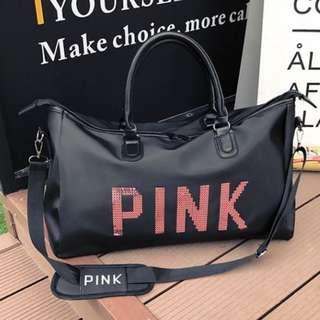 Pink Duffle Travel Bag
