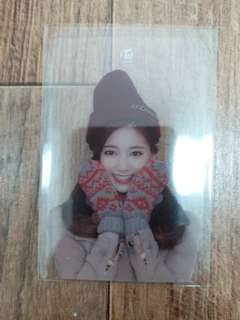 Tzuyu Merry&Happy blanket limited transparent card