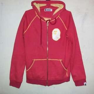 bape semi big logo zip up hoodie