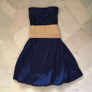 Cobalt Blue Tube Bubble Prom / Dinner / Cocktail / Formal Dress