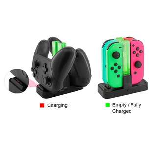6 in 1 Charger Stand Station Charging Dock for Nintendo Switch Joy-con / Pro Controller