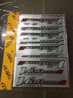Sticker V100 addres Type S
