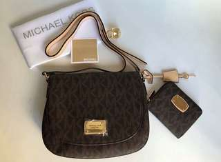 MK Sling Bag and Wallet