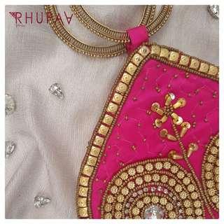 Embroidery Bangle Bag