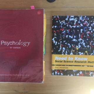 1. Psychology in context - $80 2. Social Science Research Methods - $40