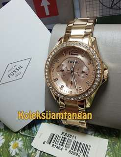 TODAY PROMO - Fossil Riley Multifunction Rose-tone Stainless Steel Watch