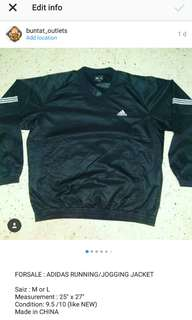 ADIDAS RUNNING/JOGGING JACKET