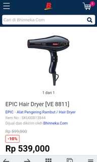 Hair dryer Epic Pro VE 8811