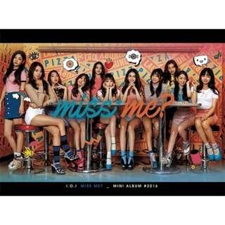 I.O.I 2nd Mini Album Miss Me + Photobook + Photocard + Poster