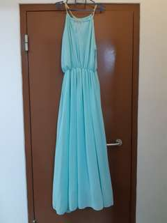 Mint Sleeveless Long Dress
